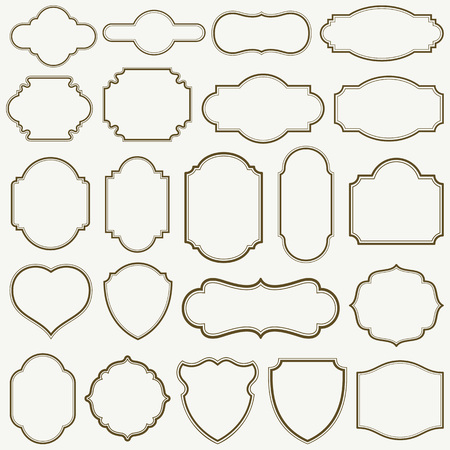 Set of plain frames vector illustration. saved in EPS 8 file. A large jpeg file included 5000x5000.