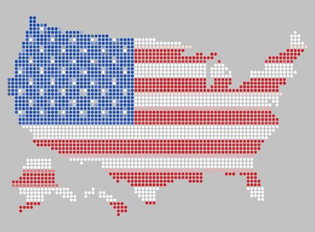 united states: Map of the United States vector illustration.