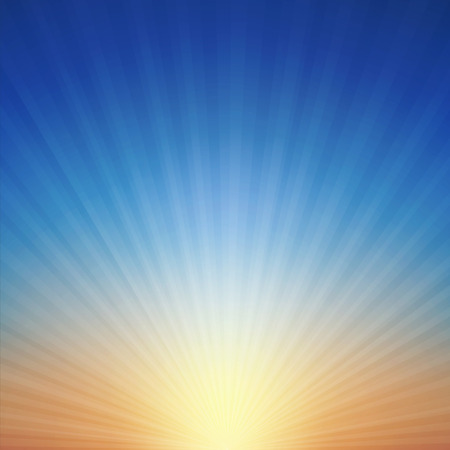 Sunset background vector illustration. Saved with transparencies, well constructed for easy editing. Hi-res jpeg file included 4000x4000.
