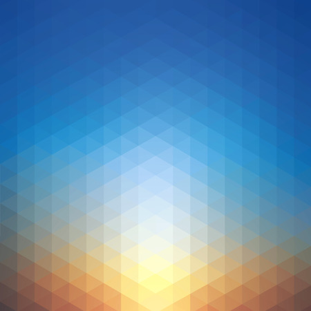 Sunset geometric background vector illustration. Saved with transparencies, well constructed for easy editing. Hi-res jpeg file included 4000x4000.