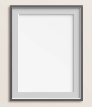 Simple and elegant blank frame vector illustration. Saved with transparencies.  Hi-res jpeg file included 5000x4300.