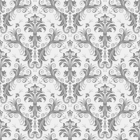 花柄シームレスなベクトル イラスト。EPS 8 ファイルに保存されます。ちょうどスウォッチ パレット AI にこれをドロップし、それをあなたの図形の