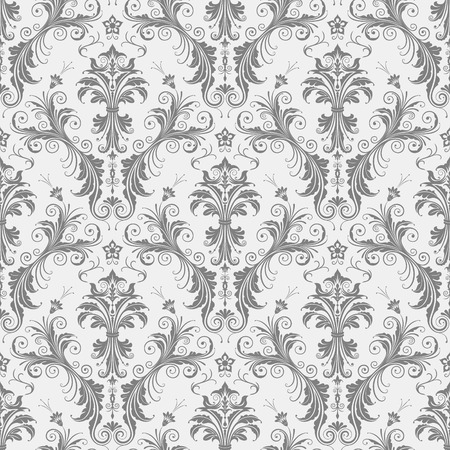 Seamless floral pattern vector illustration. Saved in EPS 8 file. Just drop this into your swatches palette AI then fill your shapes with it. Seamlessness is guaranteed. Hi-res jpg file included 4000x4000. Ilustracja