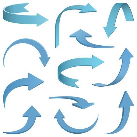 Set of Arrows illustration. Vectores