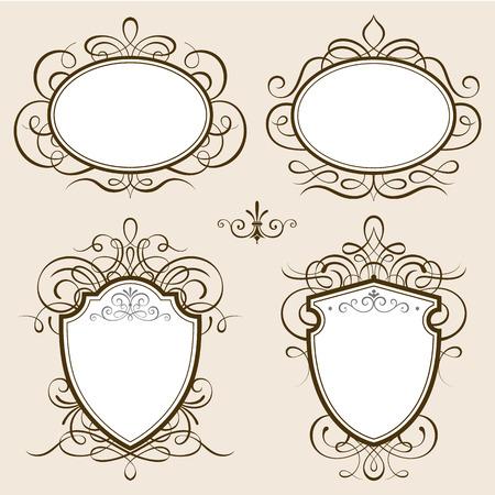 design frame: Classic frames illustration.