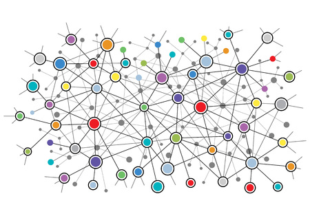 background design: Abstract network background