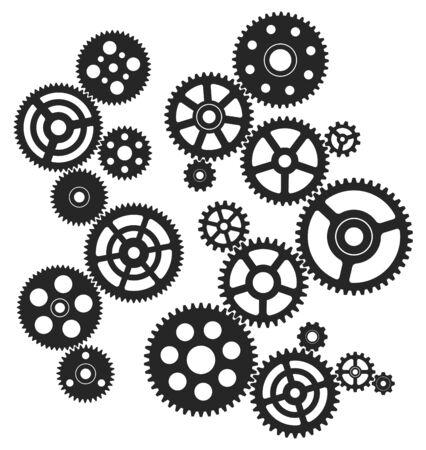 Gears circuit illustration