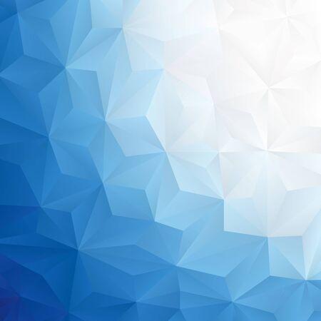 抽象的な青い三角の背景イラスト