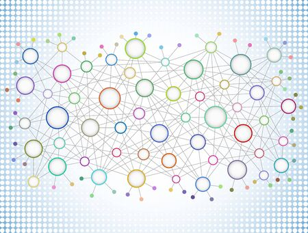 Abstract network background illustration