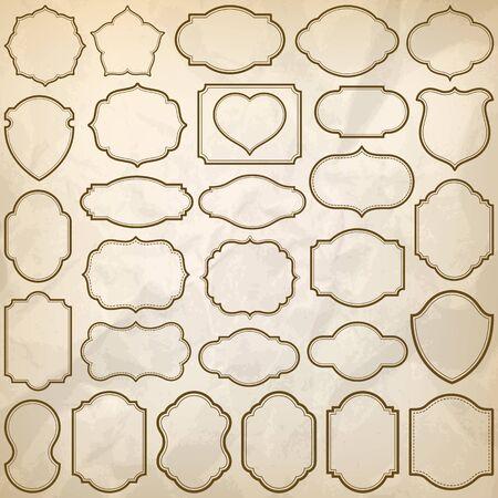 plain: Plain frames with wrinkled paper texture illustration.