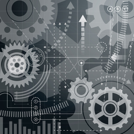 constructional: Abstract technology background illustration.