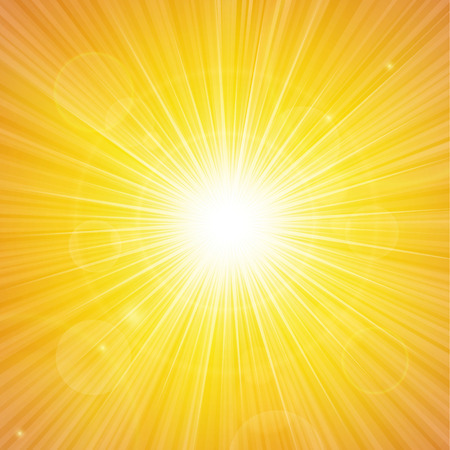 the energy center: Sunshine background vector illustration. Illustration