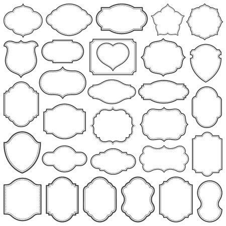 Set of simple frames vector illustration. Saved in file. Hi-res jpeg file included  (5000x5000). Vectores