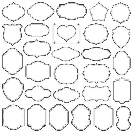 Set of simple frames vector illustration. Saved in file. Hi-res jpeg file included  (5000x5000). Illustration