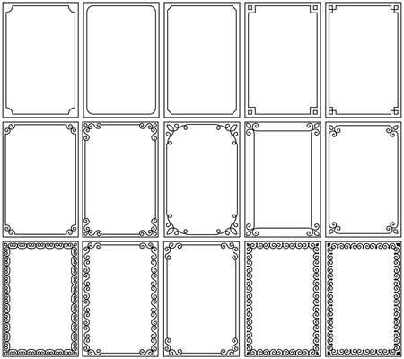 Set of frames vector illustration.