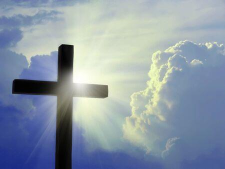 Krzyż przeciwko nieba