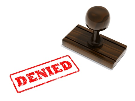 Denied rubber stamp photo