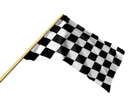 winning flag: Checkered racing flag
