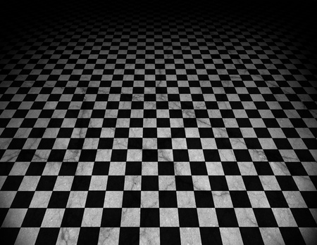Checkered marble floor photo