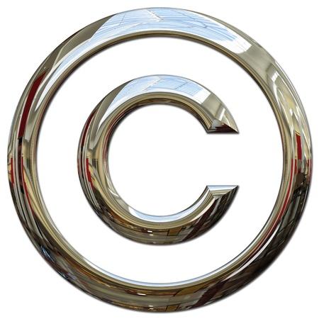 Copyright-symbool Stockfoto