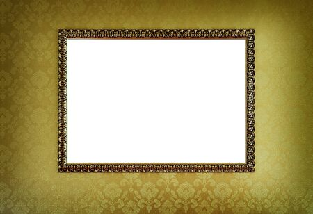 Grunge gold frame photo