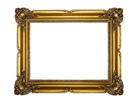 ornamentations: Old wooden gold frame