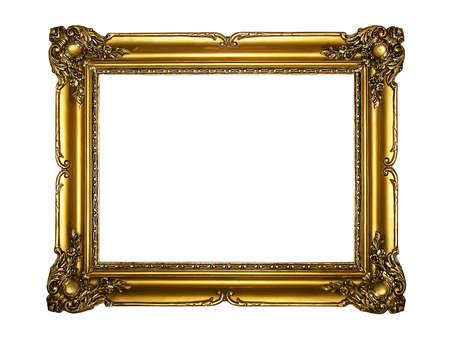 Old wooden gold frame photo