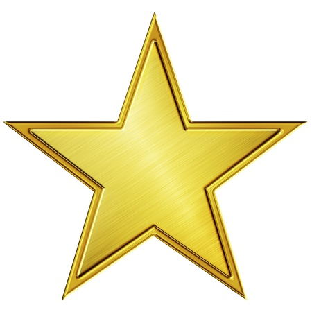 Gold star Stock Photo - 8766766