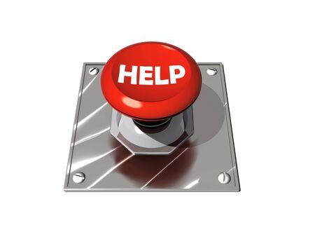 Help button illustration Stock Illustration - 8766750