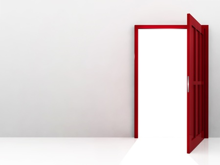 Abstract red door Stock Photo - 8992690