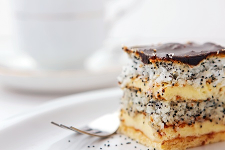 Coconut cake with poppy-seed photo