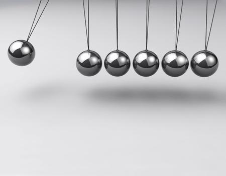Cuna de Newton, equilibrio de bolas Foto de archivo