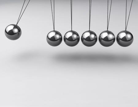 stability: Newtons cradle, balancing balls Stock Photo