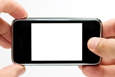 taking video: Taking picture with mobile phone Stock Photo