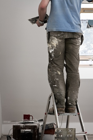 home improvement, spackling Stock Photo - 9123056
