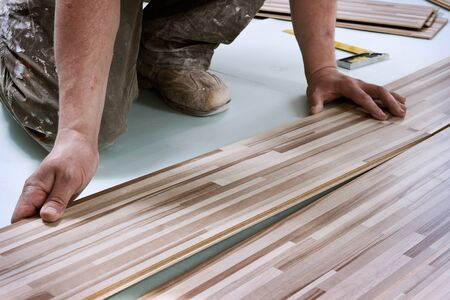 Home improvement, floor installation Stock Photo - 9250795
