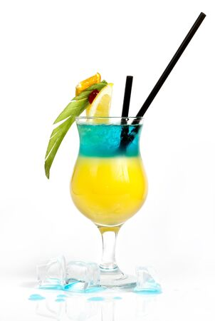 Colorful layered alcohol drink photo