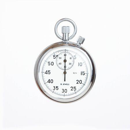 timer: Mechanical russian stopwatch, deadline concept