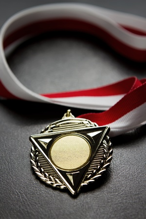 Blank gold medal photo