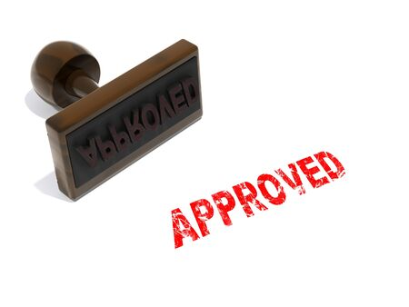 accepted label: Approved stamp
