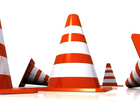 Traffic cones Stock Photo - 9524355