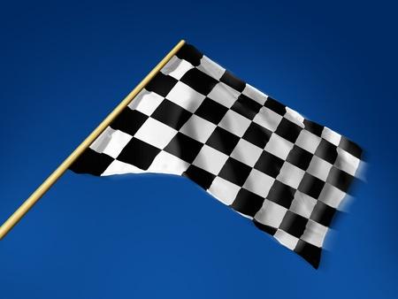 motor race: Race vlag Stockfoto