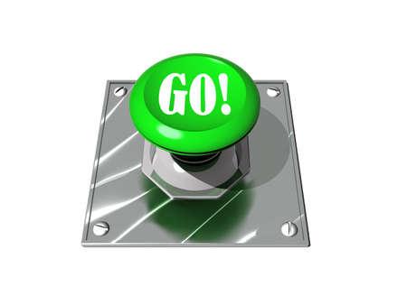 Go button Stock Photo - 9524329