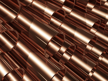 Copper pipes photo