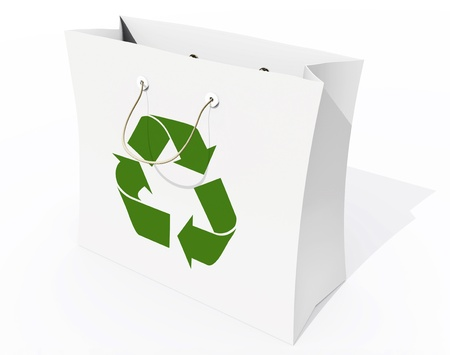 Recyclable shopping bag photo