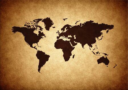 Grunge world map illustration illustration