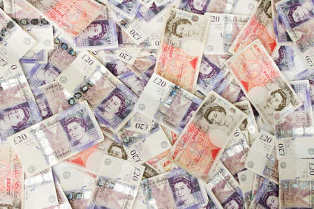 a lot of money: British Pounds background