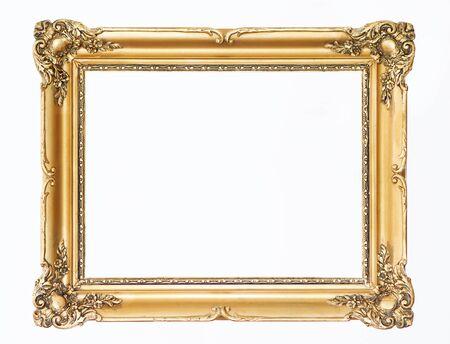 mirror frame: Wooden gold frame