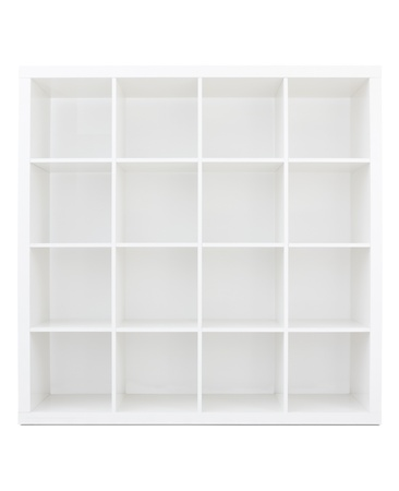 Empty white wooden bookshelf Stock Photo - 9749741