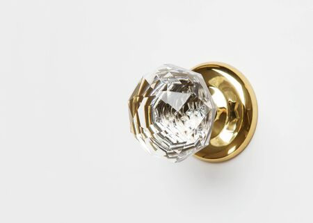 door knob: Crystal door knob on white